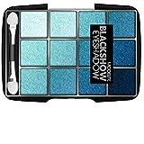 paleta de sombra de ojos, colores azules