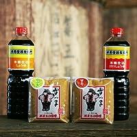 [法要の引出物に 味噌醤油セット]手作り越後味噌 丸大豆醤油 うれすじセット(みそ しょうゆセット)