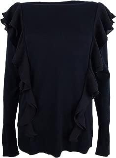 Lauren Ralph Lauren Ruffle-Tiered Sweater (Polo Black, XL)