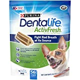 Purina DentaLife Made in USA Facilities Dog Dental Chews, ActivFresh Daily Oral Care Mini - 16.9 oz. Pouch