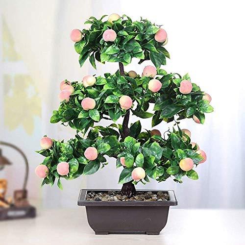 MKXF Emule simulación de bonsái de árbol frutal Decorativo, Creativo árbol frutal Planta Verde en Maceta de plástico, la Mejor decoración del hogar