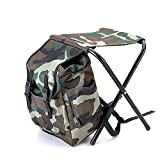 Tinghan Camouflage Backpack Cooler Bag Chair High-Intensity Steel Cross for Fishing Camping
