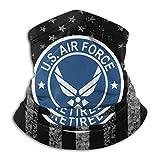LinUpdate-Store Banderas de EE. UU. Fuerza Aérea de EE. UU. Retirada USAF Sombreros unisex de cuello de lana Calentadores Sombreros Cuello tubo Bufanda Polainas de cuello