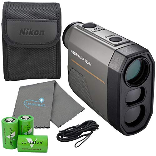 Nikon Prostaff 1000i Laser Rangefinder - 16663 Bundle with 3 CR2 Batteries and a Lumintrail Cleaning Cloth
