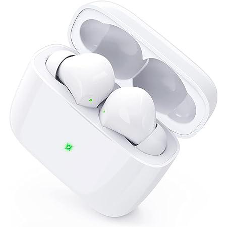 【2021 Bluetooth5.2 新型】 ワイヤレスイヤホン Hamoiarc イヤホン Bluetooth 30時間連続再生 Hi-Fi AACコーデック対応 IPX7防水 ブルートゥース ワイヤレス イヤホン 自動ペアリング記憶 ハンズフリー通話 CVC8.0ノイズキャンセリング マイク 良いフィット感 片耳/両耳モード 切替 Siri対応 左右分離型 コンパクト 音量/曲調整可能