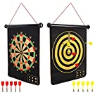 Mixi Magnetic Dart Board for Kids, Outdoor Toys Kids Games Double Sided Dart Board Games Set for Boys with 10 Darts, Best Toys Gifts for Teenage Boys Girls Age 5 6 7 8 9 10 11 12 13 14 15 16 Years