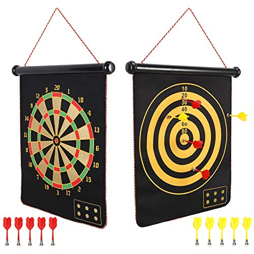 Mixi Magnetic Dart Board for Kids, Outdoor Toys Kids Games Double Sided...