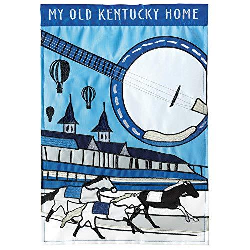 Magnolia Garden My Old Kentucky Home Derby Blue 19 x 13 Polyester Kleine Hausflagge