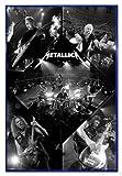 Close Up Metallica Poster Live (94x63,5 cm) gerahmt in: