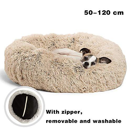 JRUI Hundebett Grosse Hunde OrthopäDisch SchöNe Bezug Abnehmbar Farbe und Größe Optional für Kleine mittlere Grosse Hunde, beige 50x50x20cm