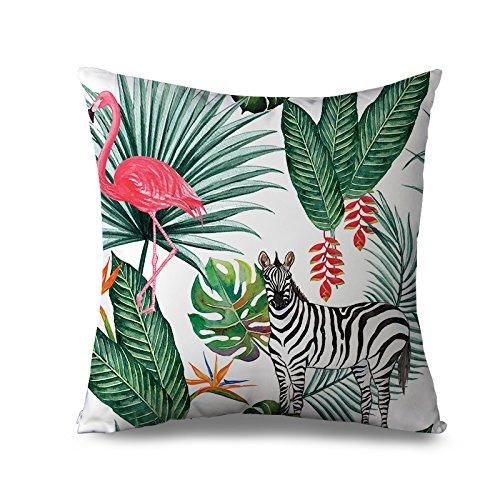 Outdoor Kissen Bezug 45x 45cm flamingo und Zebra Überwurf Kissen für Couch Leinwand Modern, quadratisch Kissen Fall Home Kissen Decoraitve