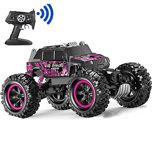 Remote Control Car, Pink Rc Truck 4x4 Off-Road Waterproof Function 360° Rotation, Suitable for Boys, Girls, Adult and Children's Toy