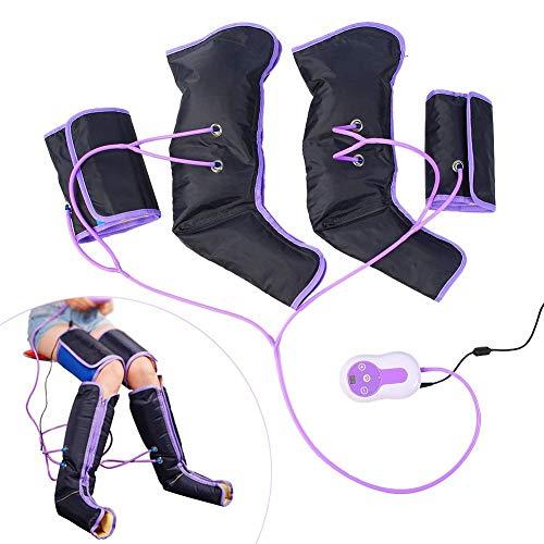 Masajeadores eléctricos para pies, masajeador de compresión de aire para piernas, sistema de compresión de aire, linfático y de circulación sanguínea, botas de recuperación