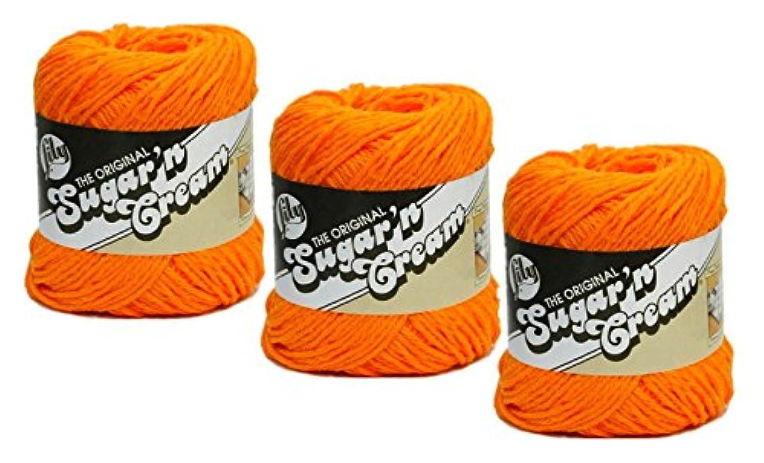 Sugar'N Cream Yarn - Solids-Hot Orange