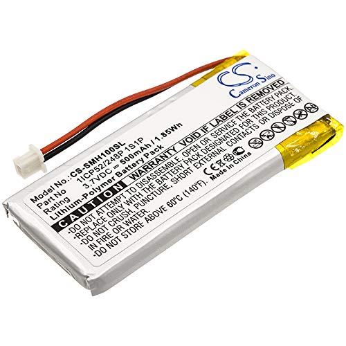 CS-SMH100SL Batería 500mAh Compatible con [Sena] SMH-10, SMH-10 Lifespan sustituye 1ICP52/248P 1S1P