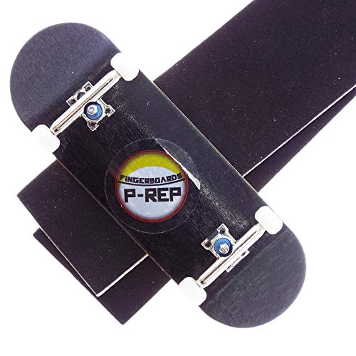P-REP Solid Complete Wooden Fingerboard 32mm x 100mm Natural (Black)