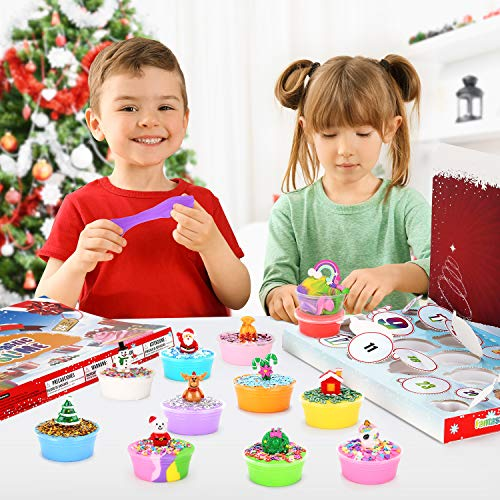WloveTravel Kids Christmas Advent Calendar 2020 Holiday Set for Girls 24Pcs Surprises to Discover
