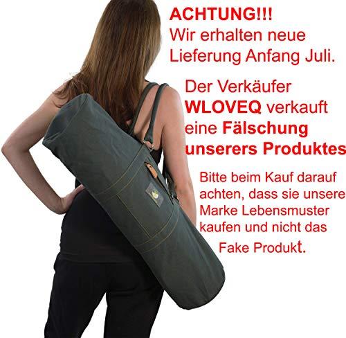 Lebensmuster Yogamatte Kork & Naturkautschuk mit Tasche, 183 * 66 * 0,5cm rutschfest XL, schadstofffrei, Mat für Yoga und Pilates