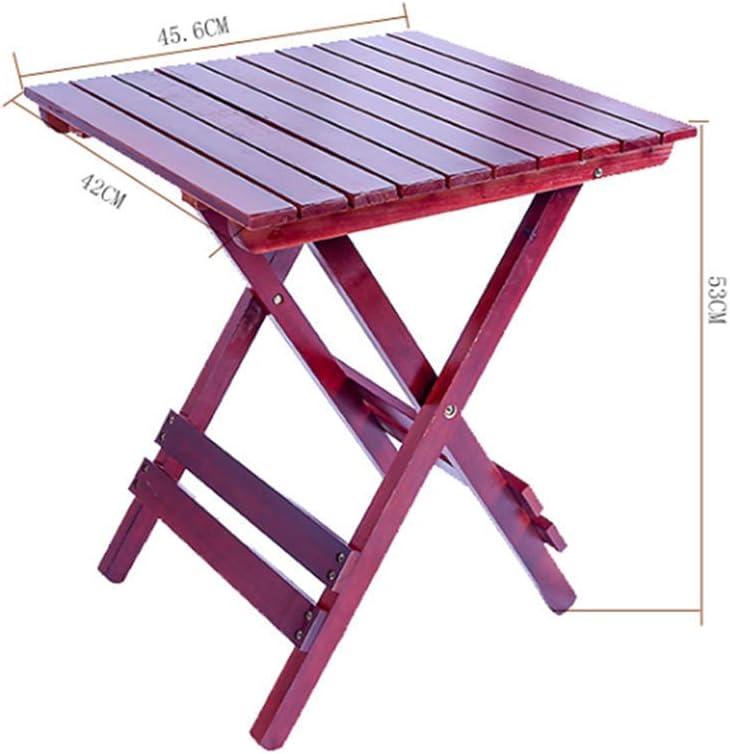 Table Pliante en Bois Massif Petite Table d'appoint Portable Jardin/Patio/véranda Table de collation extérieure 17,9 Fois; 16,5 Fois; 20,9 po, Noyer, Maison/Bureau Walnut