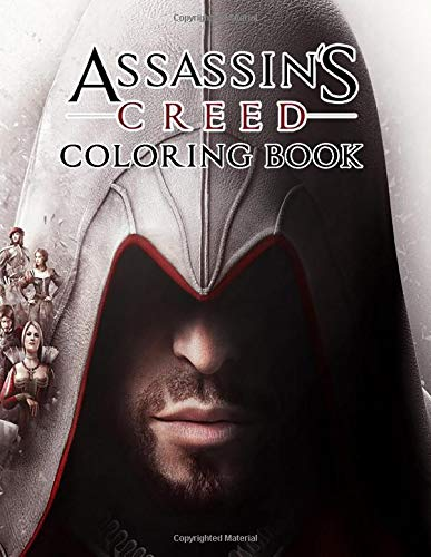 Assassin's Creed Coloring Book: Beautiful illustrations of Assassin's Creed characters and iconic scene