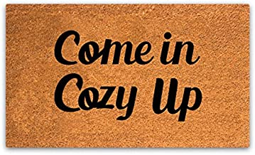 PLUS Haven Pure Coco Coir Doormat with Heavy-Duty Backing - Come in Cozy Up - Size: 17-Inches x 30-Inches Pile Height: 0.6-Inches - Perfect Color/Sizing for Outdoor/Indoor uses.
