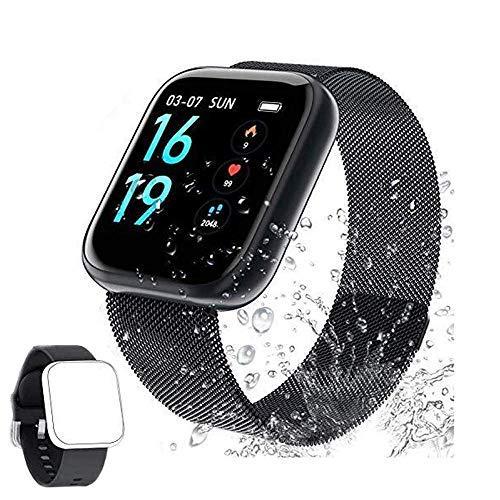 Reloj Conectado Mujer Hombre Smartwatch Reloj Deportivo Podómetro Monitor de frecuencia cardíaca Reloj Inteligente Cronómetro Impermeable Alarma-SQ02