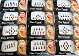 6 Packs- 42 Bindis Mix n Match Face Jewels Bollywood Stickers Indian Bindi