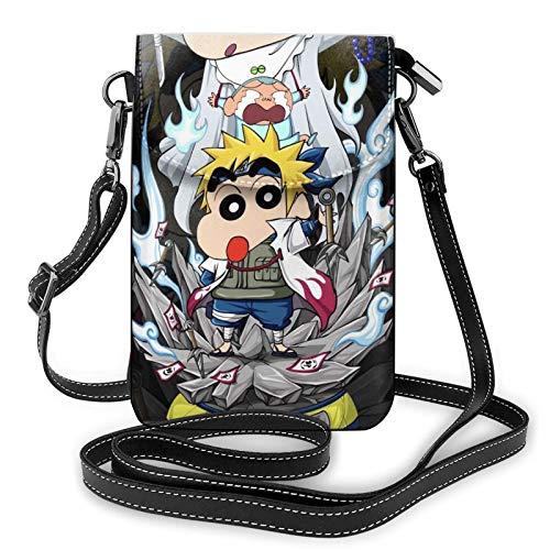 XCNGG Naru-to N-amikaze M-inato C-rayon Shin-chan Crossbody Bags for Women's Crossbody Handbags Cell Phone Purse Waterproof Leather Handbags Small Wallet