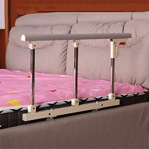 Barra de seguridad lateral para cama de aleación de aluminio Barandilla de Seguridad de Cama Plegable Guardia Lateral para Personas Mayores los Adultos ayudan a Manejar la Barra para discapacitados