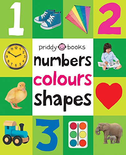 Numbers, Colours, Shapes (UK Edition) (First 100 Soft to Touch Board Books)