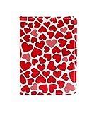 Loving Heart Valentine 's Day Passport Holder Cover Wallet, RFID Bloqueo de Tarjeta Estuche Protector de Organizador de Pasaporte de Viaje