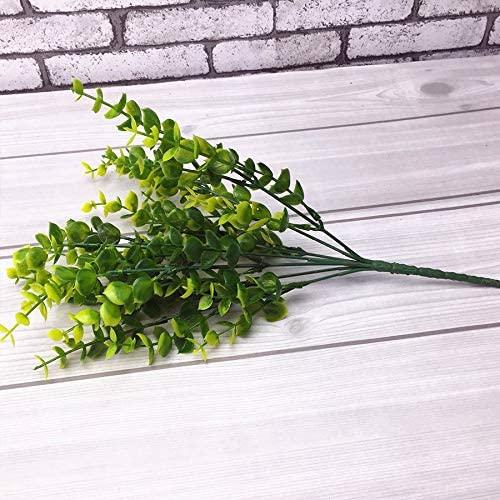 Max 54% OFF CJGILL Eucalyptus Plastic Artificial Plant 5 ☆ very popular Green Lo Grass Leaves