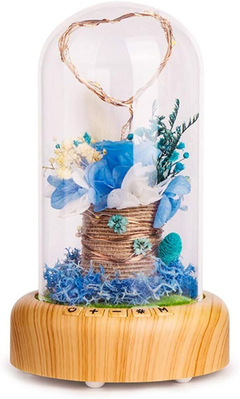 Schlummerleuchten Geführte Usb-Geschenk Blautooth-Sprachfestivalatmosphre Die Helles Flaschennachtlicht Blaue Blaume Wünscht