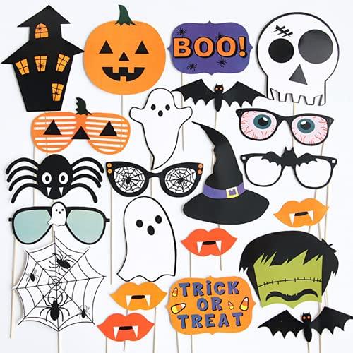 Halloween Dekoration, 28 lustige Fotobox-Requisiten