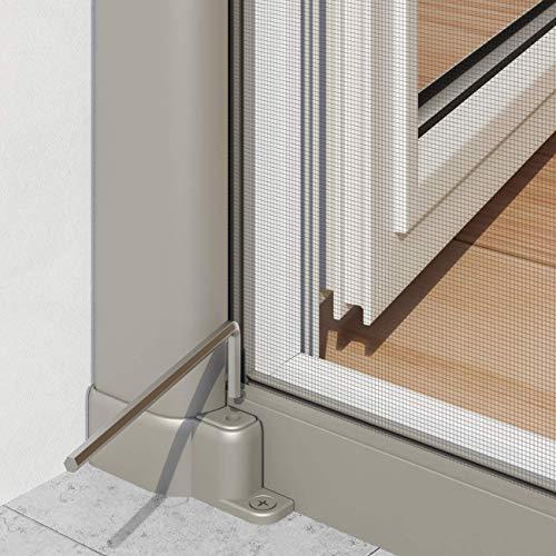 pro insect Insektenschutz-Rollo PRO für Türen 160x225cm, alu-eloxiert/grau