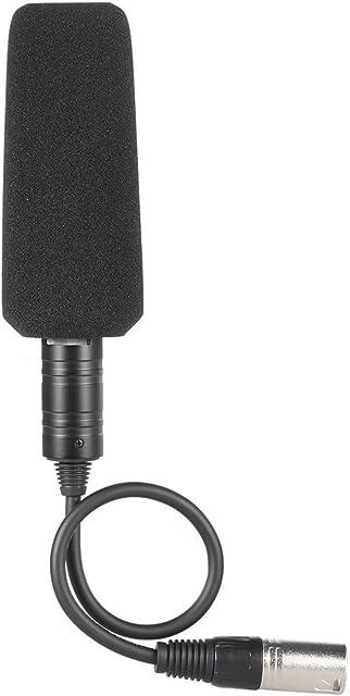 Andoer Micrófono Grabación de vídeo Fotografía Entrevista Estéreo de Condensador Omnidireccional para Sony Panasonic Videocámaras - XLR Interfaz