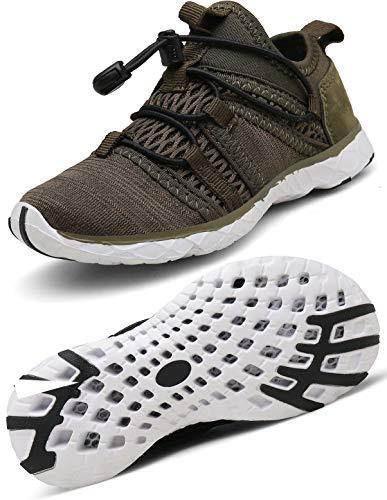 Gaatpot Escarpines Zapatos Niño Niña Zapatillas Baño Deportivas de Agua Playa Piscina Calzado de Atletismo Sandalia de Verano Verde 28 EU = 29 CN