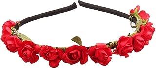 Daisyu Boho Girl Rose Flower Crown Headband Wedding Floral Headpiece