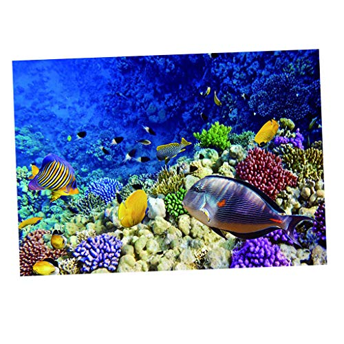 Baoblaze Lebendige Realistische Marine/Baum/Malerei Bild 3D Poster für Aquarium Hintergrund - 61 x 41 cm