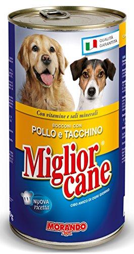 MIGLIOR CANE Set 12 1250 Gr. Bocconcini Pollo-Tacchino Cibo per Animali