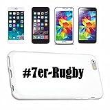 Helene Coque de protection rigide pour Samsung S8+ Plus Galaxy Hashtag # 7er Rugby en réseau social