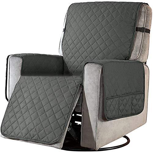 Fundas Impermeables para sillas reclinables para sillones, Protector de Muebles para cojín de sofá con Banda elástica, Protector de sofá contra derrames de Mascotas y Desgaste (café)