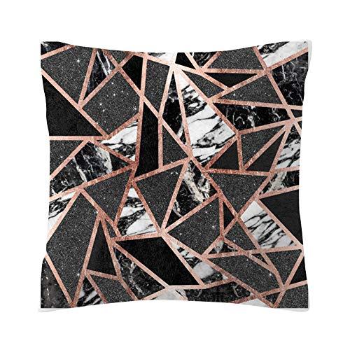 UYSDF Fashion Pillowcase 45 * 45 cm,Rose Black Gold Cushion Cover Square Pillowcase Home Decoratio