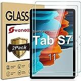 Svanee Panzerglas Schutzfolie für Samsung Galaxy Tab S7 11 Zoll 2020 (SM-T870/T875), [2 Stück] [9H Festigkeit, High Definition, Einfache Installation] Gehärtetes Glas Bildschirmschutzfolie