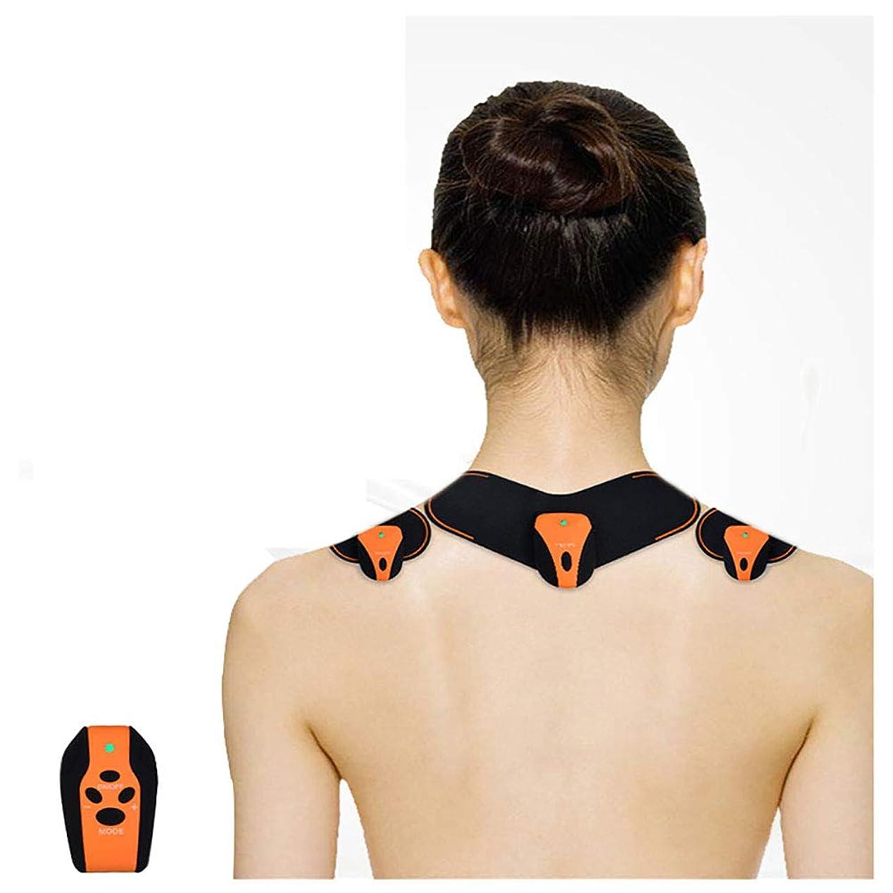 足にやにや祝福する首マッサージャーマッサージステッカーマッサージ 肩 背中 腰 足 ミニマッサージ パッド 腹筋トレーニング筋肉なだめるような神経充電式USB