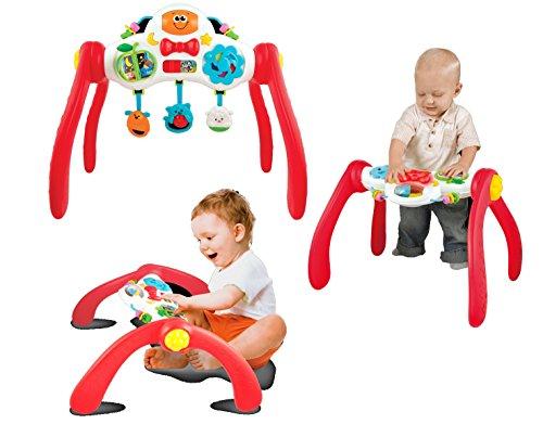 3in1 Babytrainer Spielbogen Activity Center Lerntisch mitwachsend mit Sound