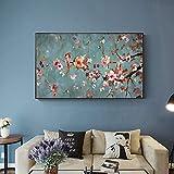 KWzEQ Flor de Almendra en la Pared Lienzo Flor Lienzo Impresiones para decoración de la Sala decoración de la Pared de la imagen50X100cmPintura sin Marco