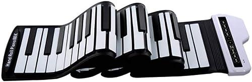 LINGLING-Tastatur Hand Rolle Elektronisches Klavier Tragbare 61 Schlüssel Anf er Erwachsene Haupttastatur Professionelle Verdickung Version (Farbe   Weiß Größe   61 Keys)
