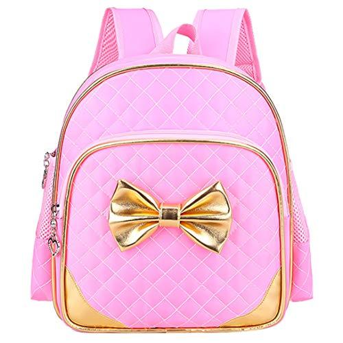 Suerico Suerico Cute Durable Waterproof Toddler Preschool Bag Kindergarten Kids Backpack for Girls (Pink)