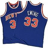 WSUN Camiseta De Baloncesto NBA para Hombre - Knicks NBA 33# Camisetas De Patrick Ewing - Camiseta Deportiva De Baloncesto Sin Mangas Transpirable De Ocio,A,XL(180~185CM/85~95KG)